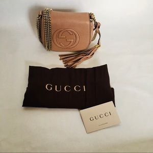 Authentic Gucci small Rose beige bag